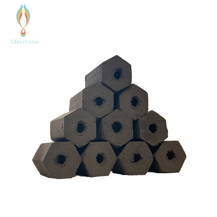 Wholesale Quick Light Lump Hexagon Wood Compressed Briquette Charcoal For Barbeque Grill Hot Pot