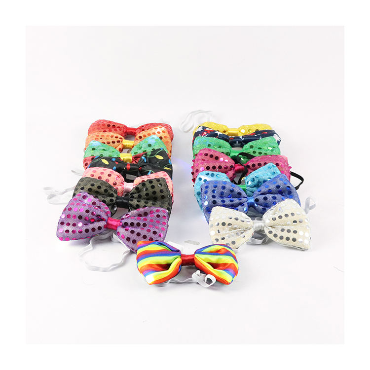 New Products Wholesale Trendy Bling Bow Ties