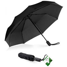 Amazon hot sale Windproof waterproof 3 folding auto open close travel compact foldable rain Umbrella with Teflonn Coating