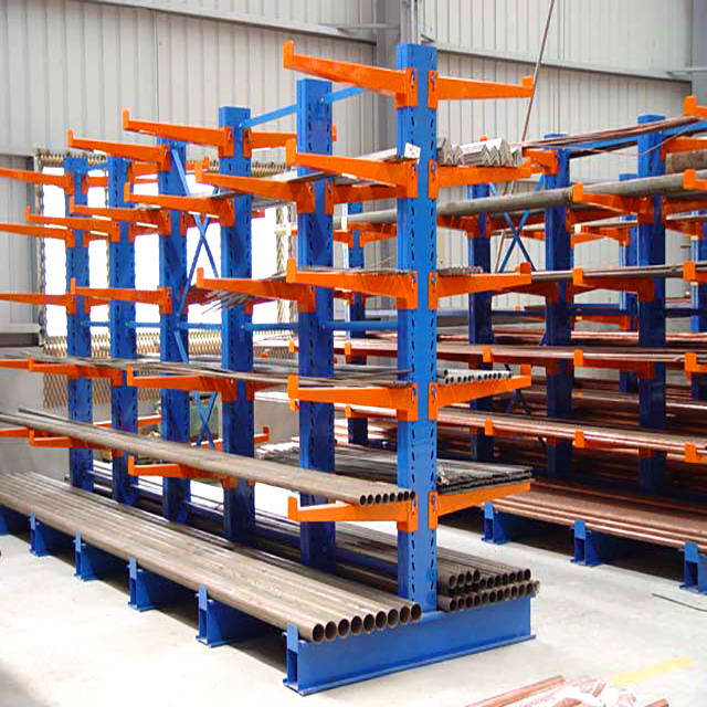 Medium duty metal storage rack cantilever racking