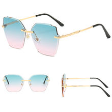 DLL036 DL glasses 2020 New Design Wholesale Sunglasses Women Fashion rimless Shades Gold sunglasses trendy Sun Glasses