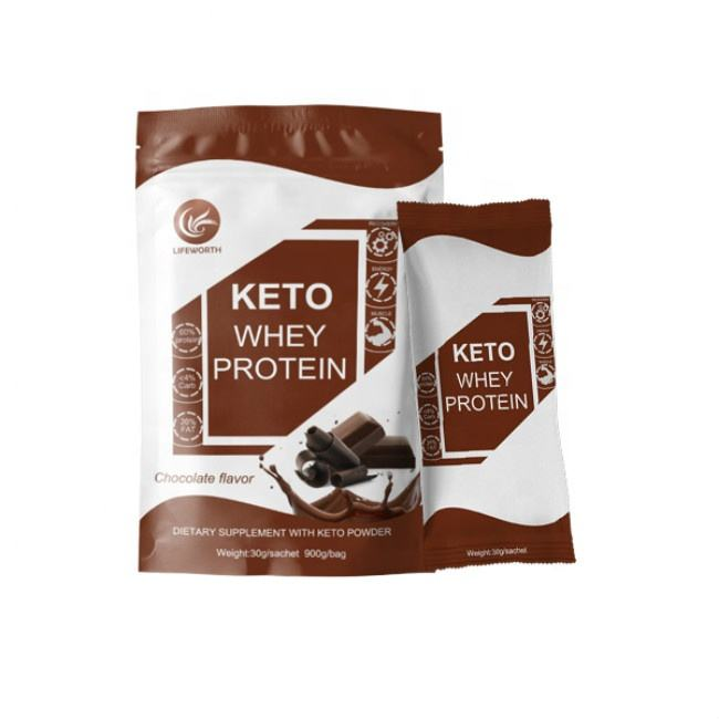 Lifeworth รสช็อกโกแลต Keto Diet whey protein Powder