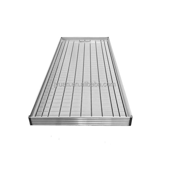 Hydroponic 4*8 ft Greenhouse Agriculture Rolling Grow Tables Rolling Bench Aluminum Hydroponic Tray