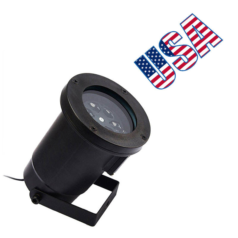 Outdoor Projection Lamp Ip44 Waterproof Lawn Light Suitable for Christmas Garden July 4th Decoration