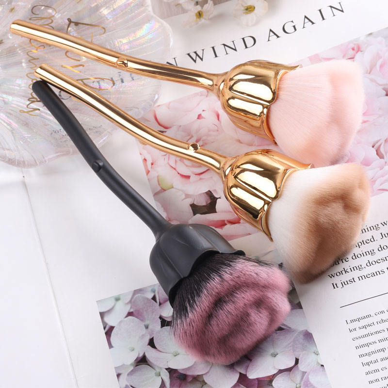 TSZS wholesale New 2020 nail art tool brush Beauty new produce cleaning dust Rose Flower nail brush