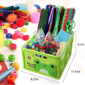 1212 Pcs Arts and Crafts for Kids Ages 8-12 - DIY Kids Arts Crafts Supplies Kit for Toddlers with Pipe Cleaners Pony Beads ect