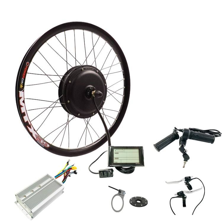 "26"" rim 26 inch wheel 48v 60v 72v 3000w electric bicycle conversion kit Ebike kit with sine wave controller"