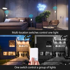 Remote Wireless Switch Waterproof RF Remote Control Light Switches No Wiring Needed Wall Push Button Lamps Fans ON/OFF Switch