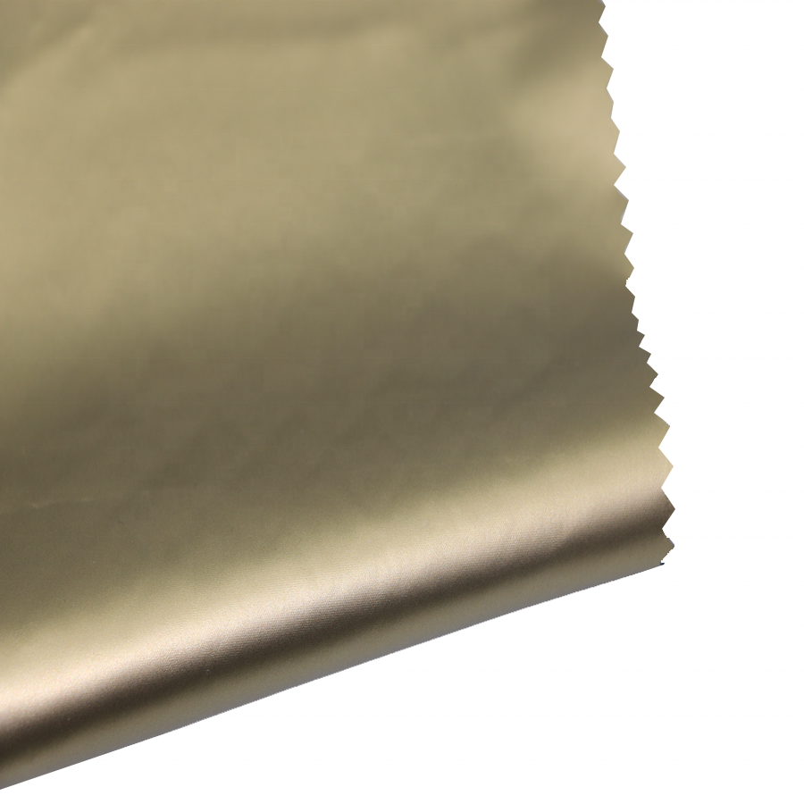 100% polyester Hoge Kwaliteit Pongee gold release papier transfer PU coating Stof