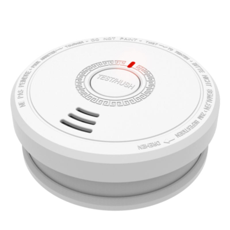 10-Year Factory LPCB EN14604 CE Certified 9V Photoelectric smoke detector/smoke alarm