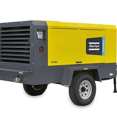 Drilling electrically driven 17bar portable air compressor XAXS600E for Atlas Copco