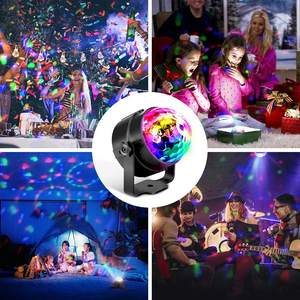 3W Disco Lights Sound Activated Disco Ball Lights with USB Cable RGB LED Strobe Lights for Stage  Kids Birthday  Home Party