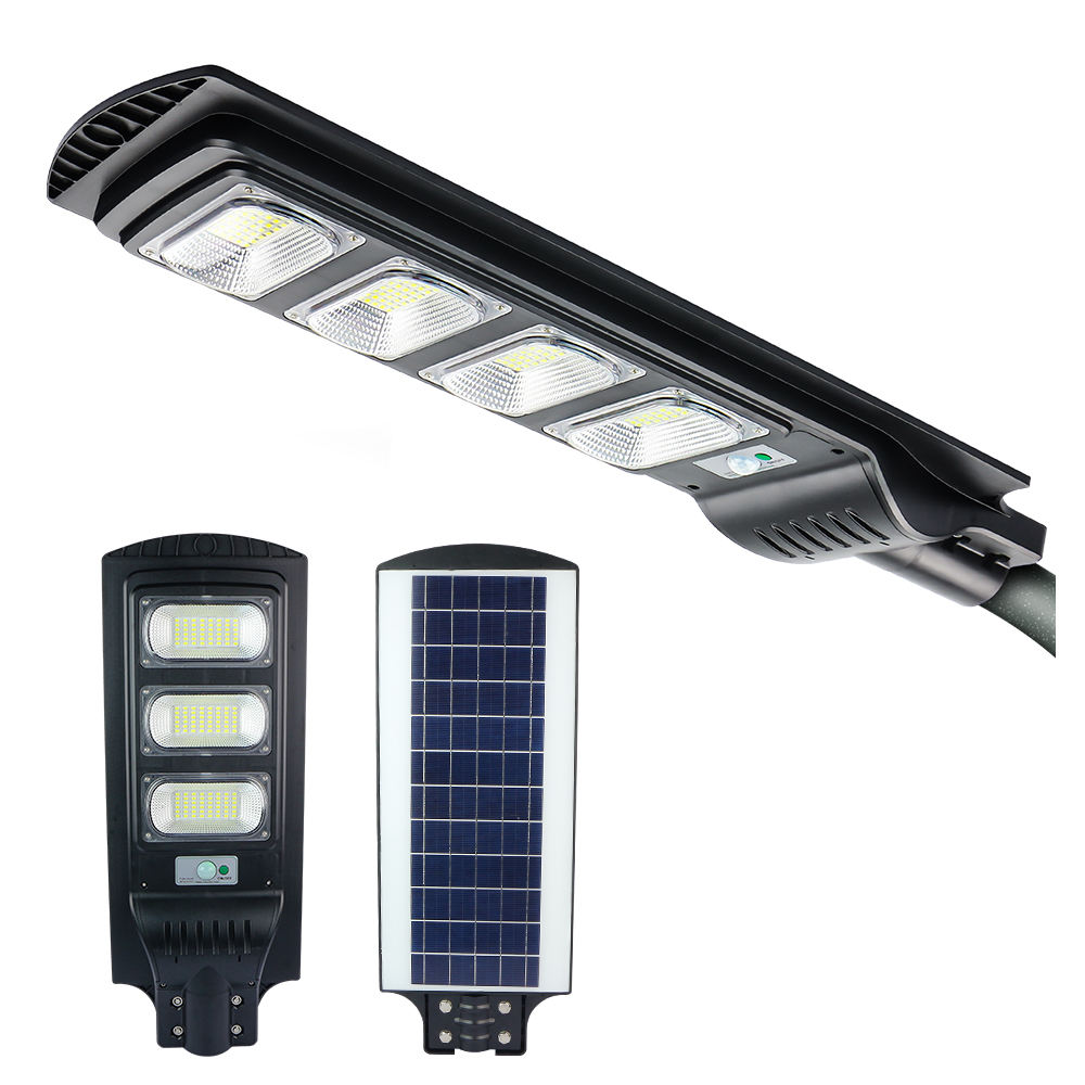 KCD New design factory direct sales 60w 90w 120w 150w 200w 250w 300w integrated all in one solar decorative street light pole