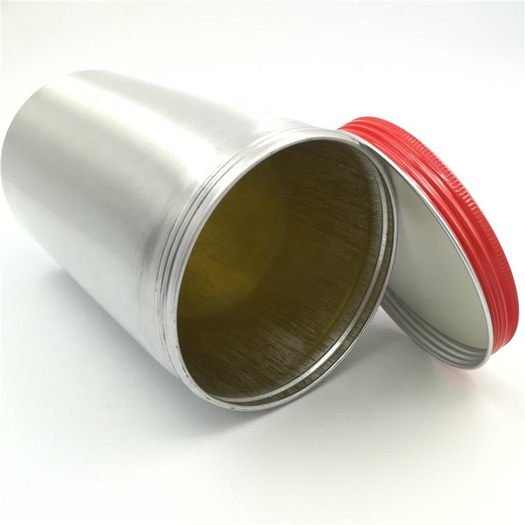 1000ml empty yellow inner coating aluminum can for shampoo