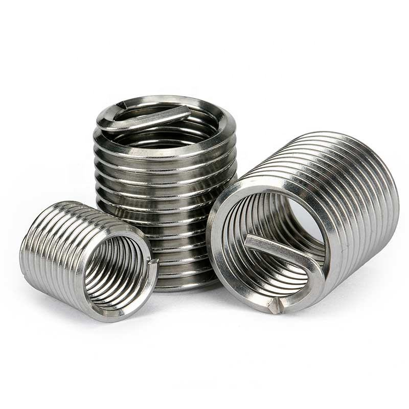 304 Stainless Steel Wire Thread Insert Nuts For Metal / Metric Threaded Insert Nuts / Wire Screw Sleeve Thread Repair