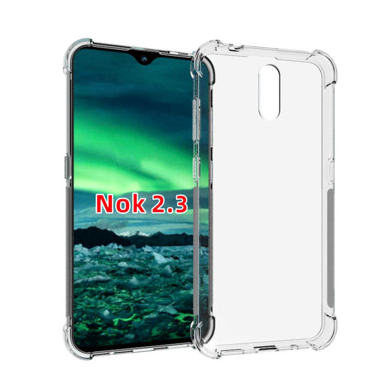 Clear Soft Tpu Case Voor Nokia 2.3 Case Covers Voor Nokia 2.3 Case Shockproof Bumper Mobiele Telefoon Cover Transparant