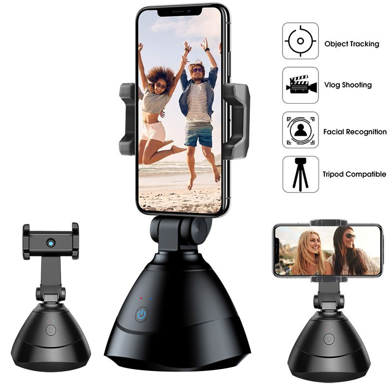 Auto Smart Shooting Selfie Stick 360 Rotation Auto Face Tracking Device Object Vlog Camera Smart Phone Holder