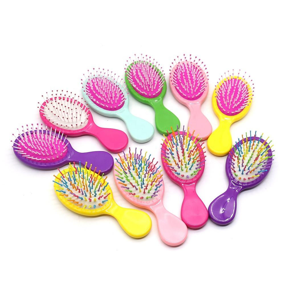 Hot Selling In Amazon High Quality Cheap Goody Natural Round Nylon Teeth Air Plastic Hair Brushes