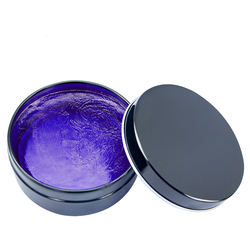 Colorful hair waxes are available in a variety of colors with customizable scents and private labels
