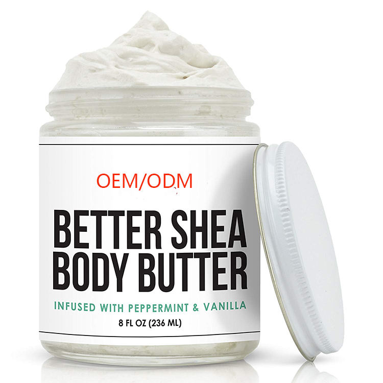 Private Label Slagroom Cacao <span class=keywords><strong>Shea</strong></span> Body Butter Verfijnd <span class=keywords><strong>Boter</strong></span> Huidverzorging