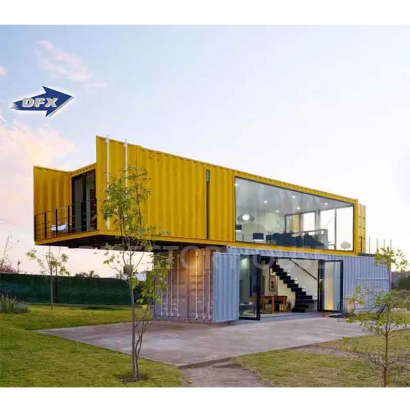 australia container home modular modern prefab 20ft 40ft shipping glass container house office with toilet shower bathroom