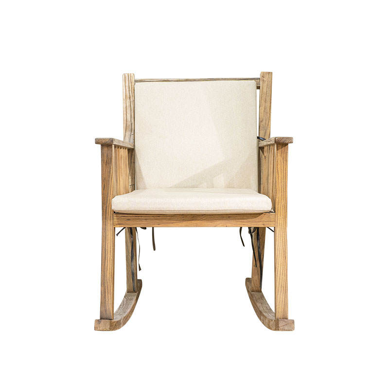 Customizable solid wood frame high resilient sponge high quality linen leisure chair