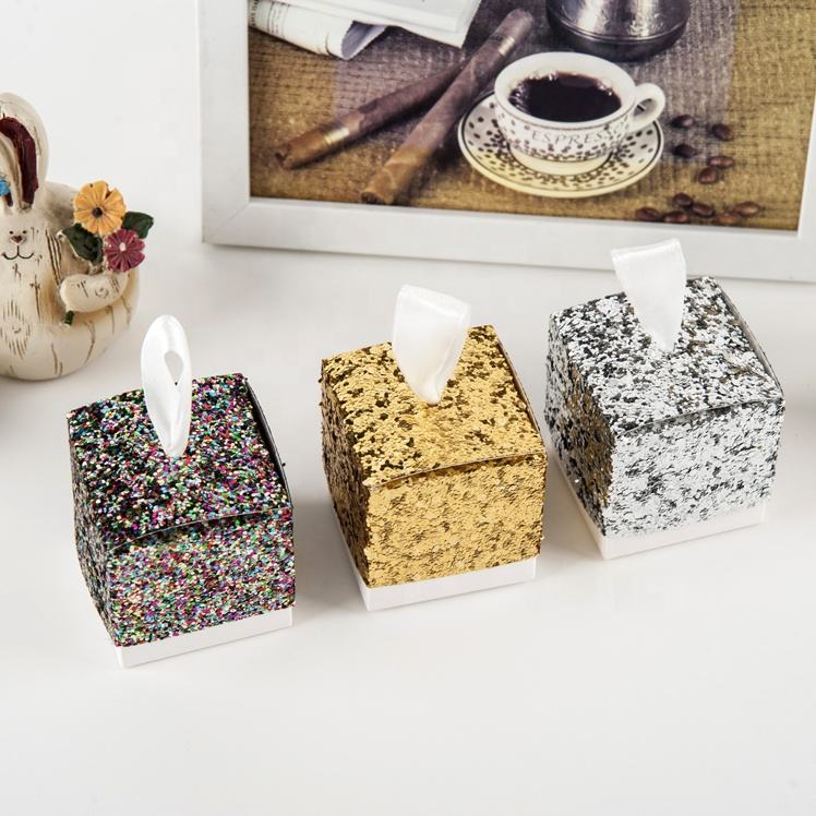 Glitter Shining Candy Box Papier Schokolade Verpackung Party Sweet Favor Box