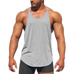 High good quality Luxury custom made logo men muscle stringer tank top bodybuilding