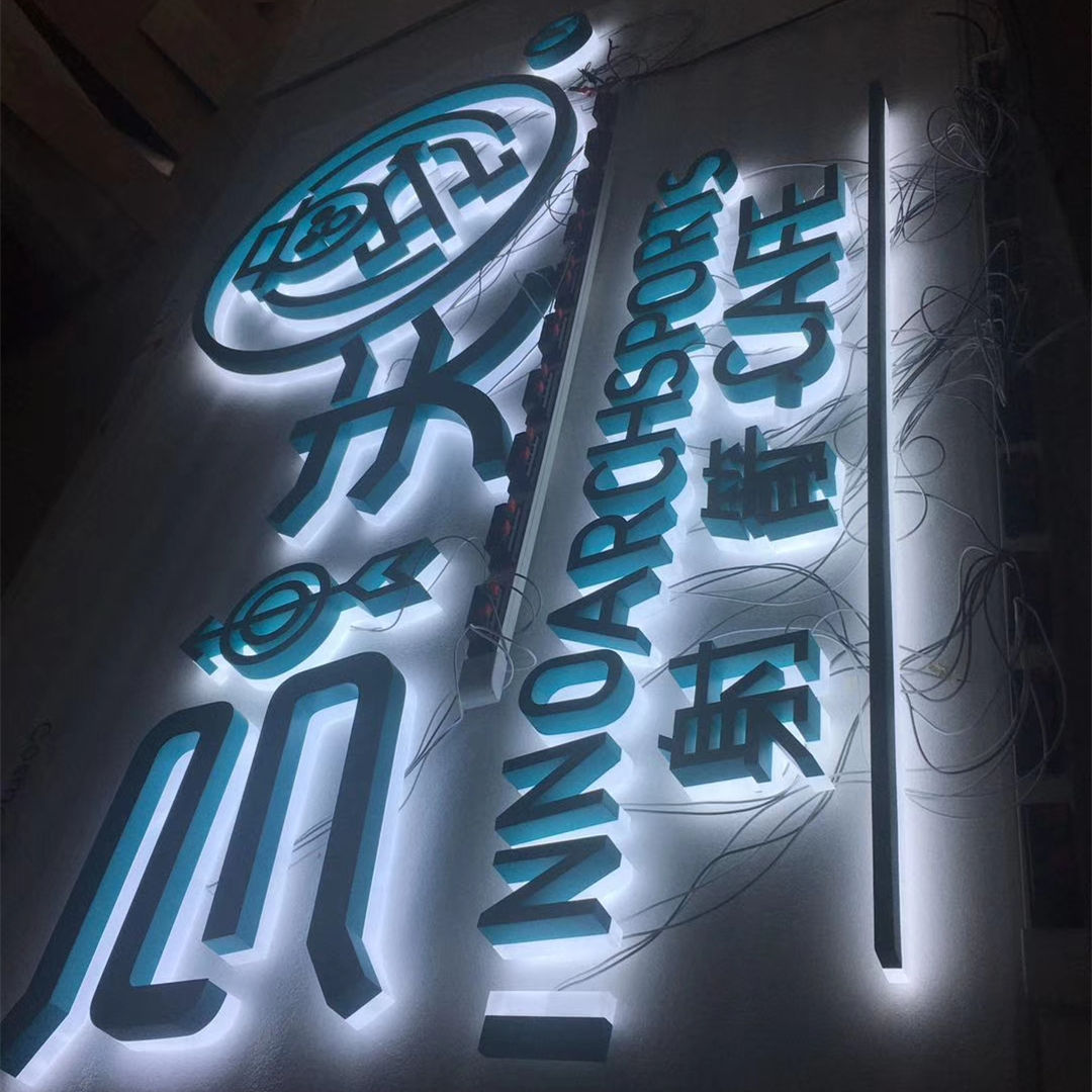 UHO customized 3d outdoor advertising led illuminated large letter sign led backlit business sign manufacturer