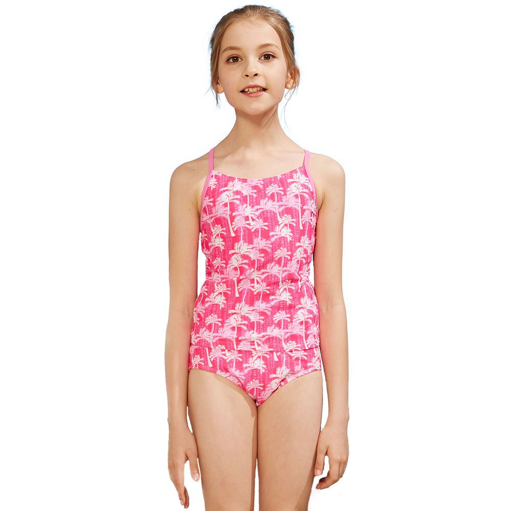 kavkas Baby Girl Bathing Suit Cute 2 Piece Swimsuit with Short Sleeve Rash Guard Ruffle Swimwear Sets 12M-6T