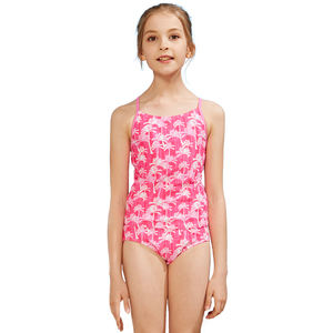 Little Girls Swimwear Private Label Bikini Oem Kids Two Piece Swimsuit Floral Tankini Swimsuits for Children