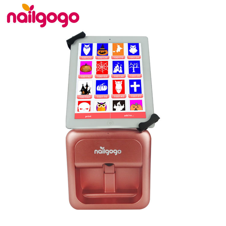 Nailgogo Smart Touchable Nail Art Printer 3d Auto Nail Printer Machine Digital With Screen