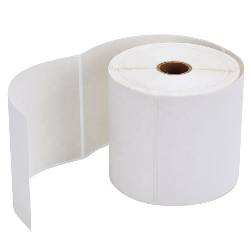 Free sample Dymo Zebra Printer Compatible Adhesive Coated 4x6 Thermal Shipping Label Thermal Paper Label