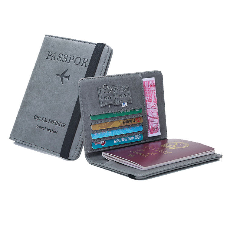 Passport Holder Cover Wallet RFID Blocking Leather Card Case Travel Document Organizer Multifunctional wallet