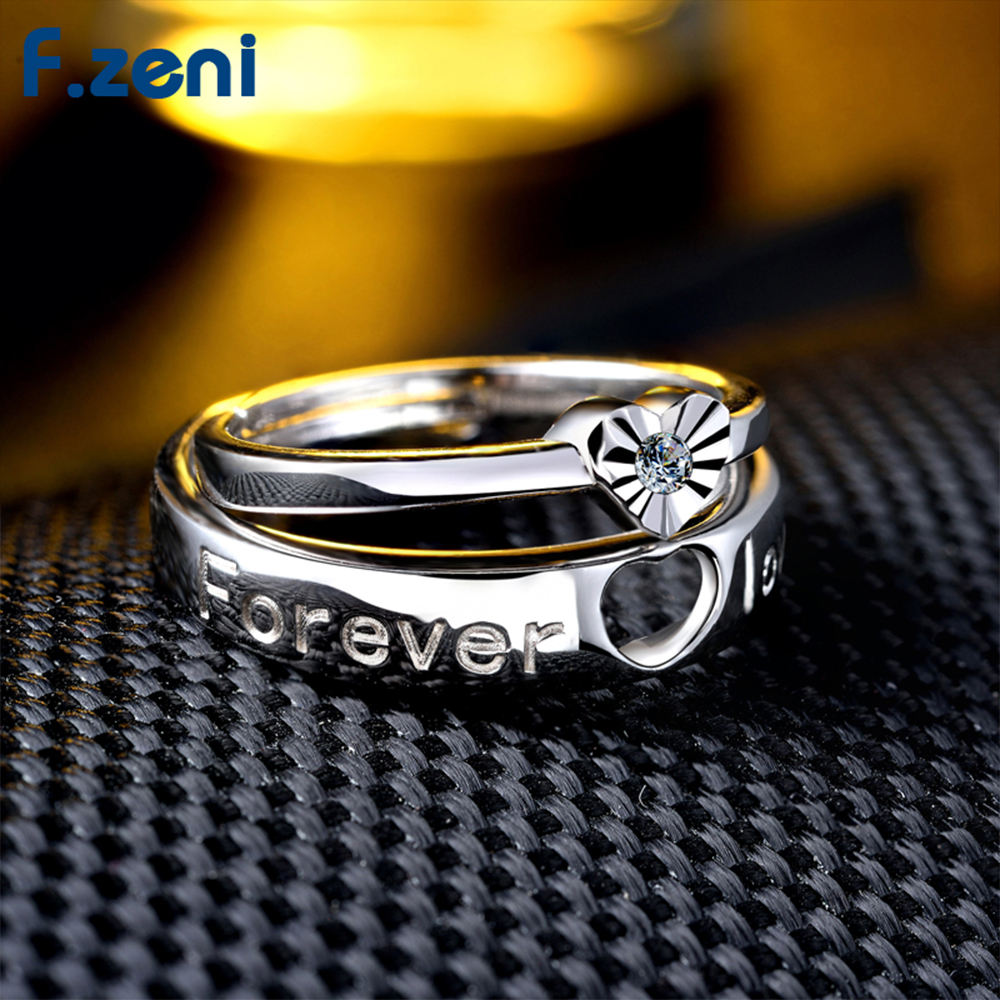 love heart couple wedding gold women 925 sterling silver rings jewelry women wedding ring for wedding