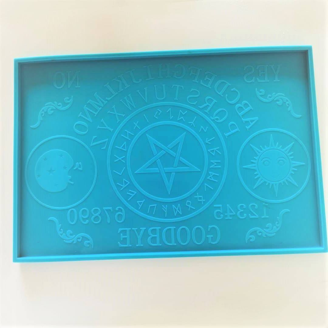 shinny 3D High-Quality large Ouija Board silicone Mold for Resin mold and Polymer Clay DIY Handmade charms mold