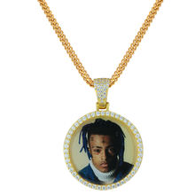 Miss Jewelry Fashion New Design Custom Celebrity CZ Picture Photo Pendant