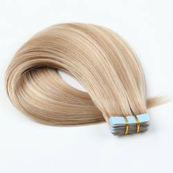 Wholesale Organic Hair Double Drawn Remy Skin Weft Tape Hair Extensions  Blonde Virgin Hair