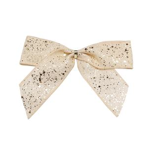 Customized supplier various type christmas tinsel bow ribbon unique pull bows