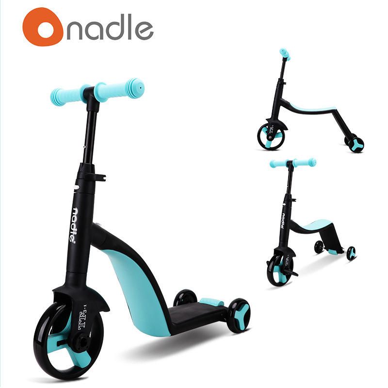 2020 Wholesale bulk Nadle baby scooter 3 in 1 for 3 wheel Nadle Children's ride on car cheap kids children scooter for sale