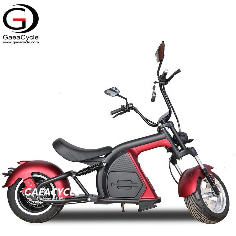 Gaea fat tire electric scooter chopper 2000w citycoco