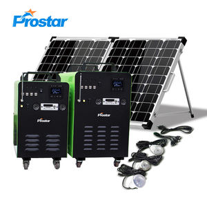 1000W Off Grid System Home Solar Kit 12V Backup Battery 1KW Portable Power Generator for Emergency Rescue