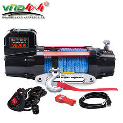 HOT SALE 4WD 12V/24V FAST SPEED ELECTRIC WINCH 9500LBS FOR 4