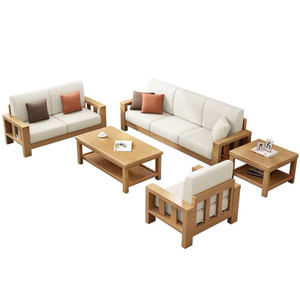 Modern Eastern Style Single Seater 2 Seater 3 Seater Sectional Solid Wood Sofa CEFS017 for Living Room