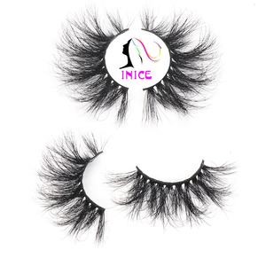 New design 25mm long false eyelashes vendor handmade 5D 3D mink hair lashes custom eyelash packaging box