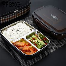 metal food grade thermal stainless steel lunch box bento leak proof compartment