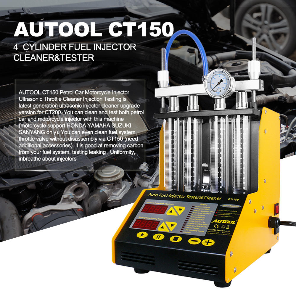 AUTOOL CT150 Launchs CNC602A Automotive fuel injector tester&cleaner CNC-602A for for 4 cylinders for Gasoline cars