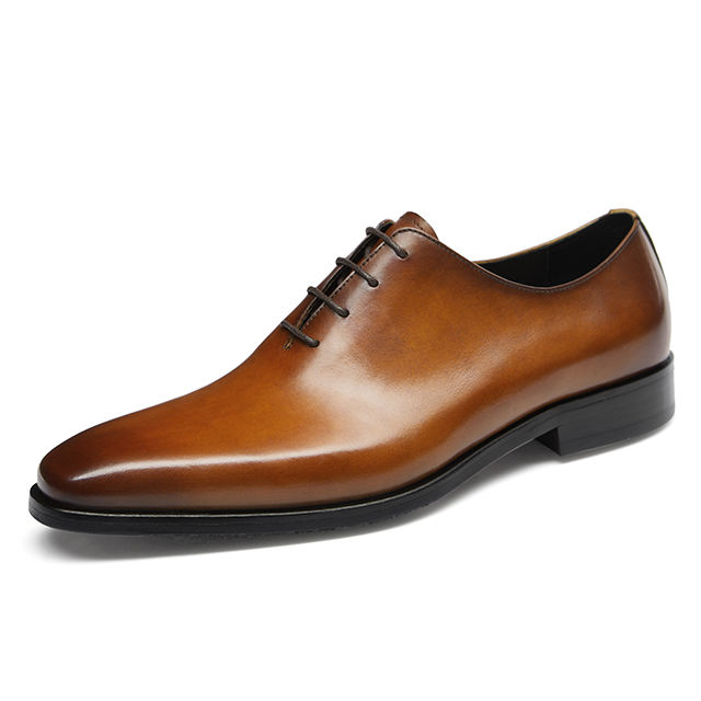 Factory wholesale OEM customize logo whole-cut Elegant genuine leather dress office formal official shoes men
