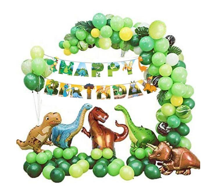 Dinosaurier Luftballons Girlande Kit für Geburtstage, Baby Duschen Party Mylar Folie Ballons Bogen Set für Kinder Themed Party Pack