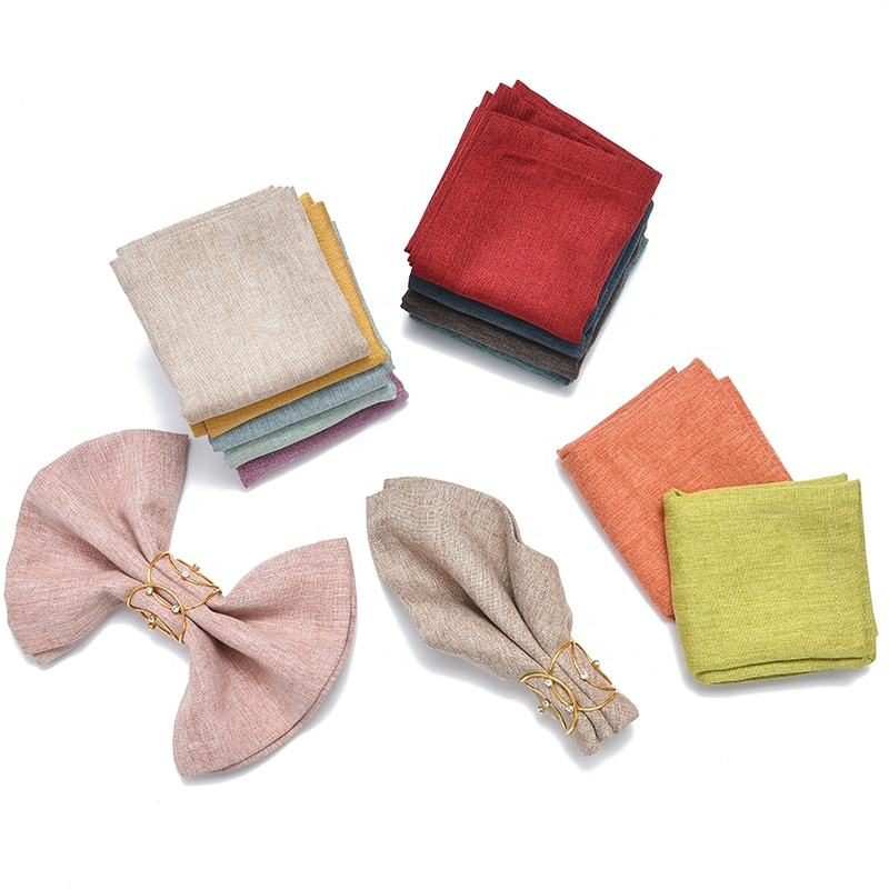 Colorful Table 100% Linen Napkins With Stone Washable